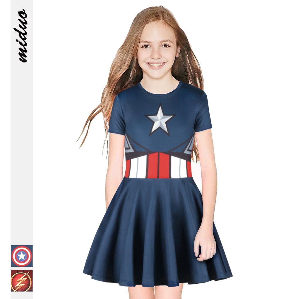 Schlussverkauf American Superhero Kids Sleeveless Dress Clothes, Shoes & Accessories Dresses