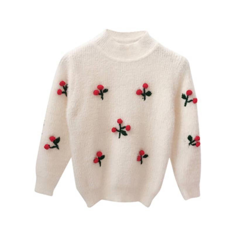 750c114623ddd Acheter Bébé Filles Pull Tricot Vêtements Tops 2018 Hiver Automne Coton  Survêtement Enfants Laine Pulls Pull Pour Fille 2 7y A3296 De  31.22 Du  Jasmineer ...