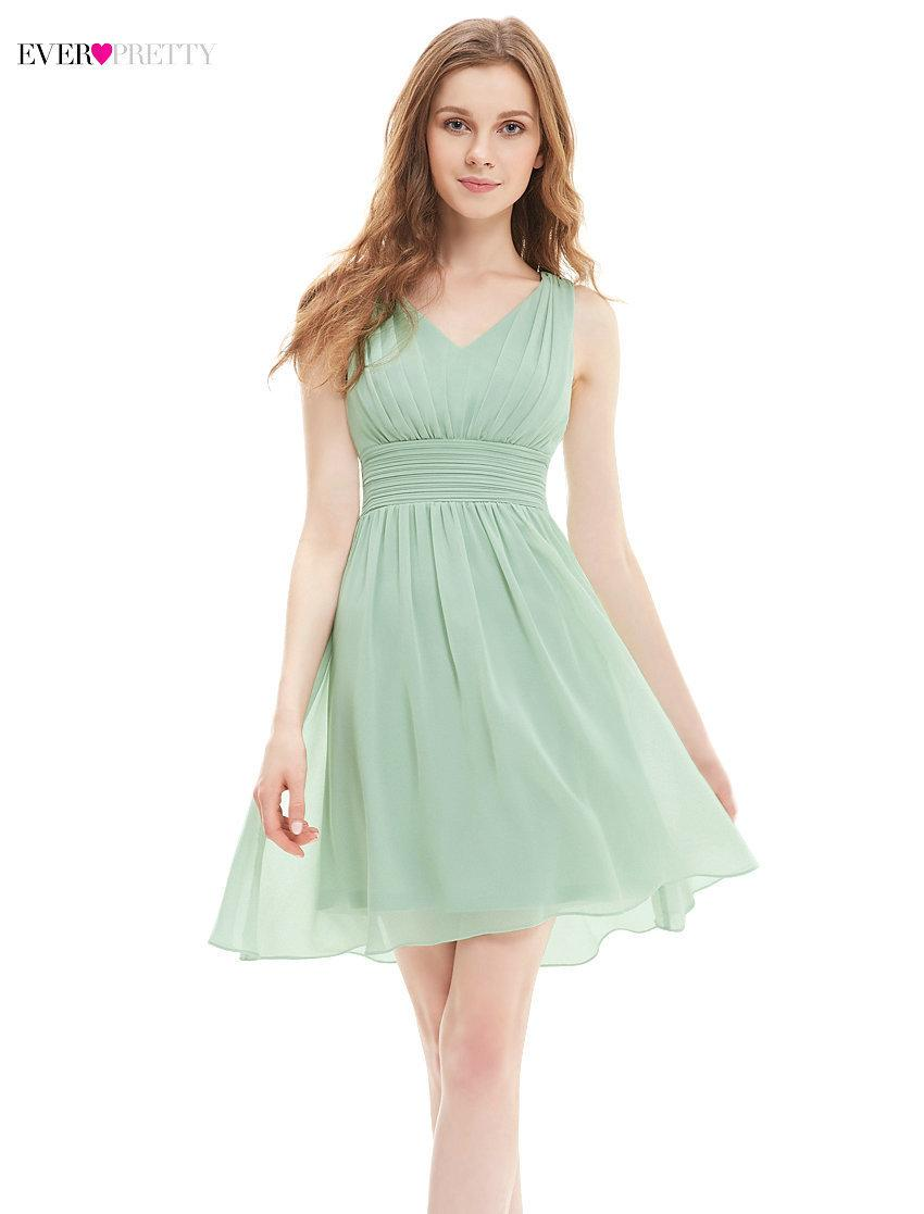 fae957a390 [Clearance Sale] New Cocktail Dress Ever Pretty HE03909 Women A-line V-neck  Short Chiffon Modern Cocktail Affordable Dresses