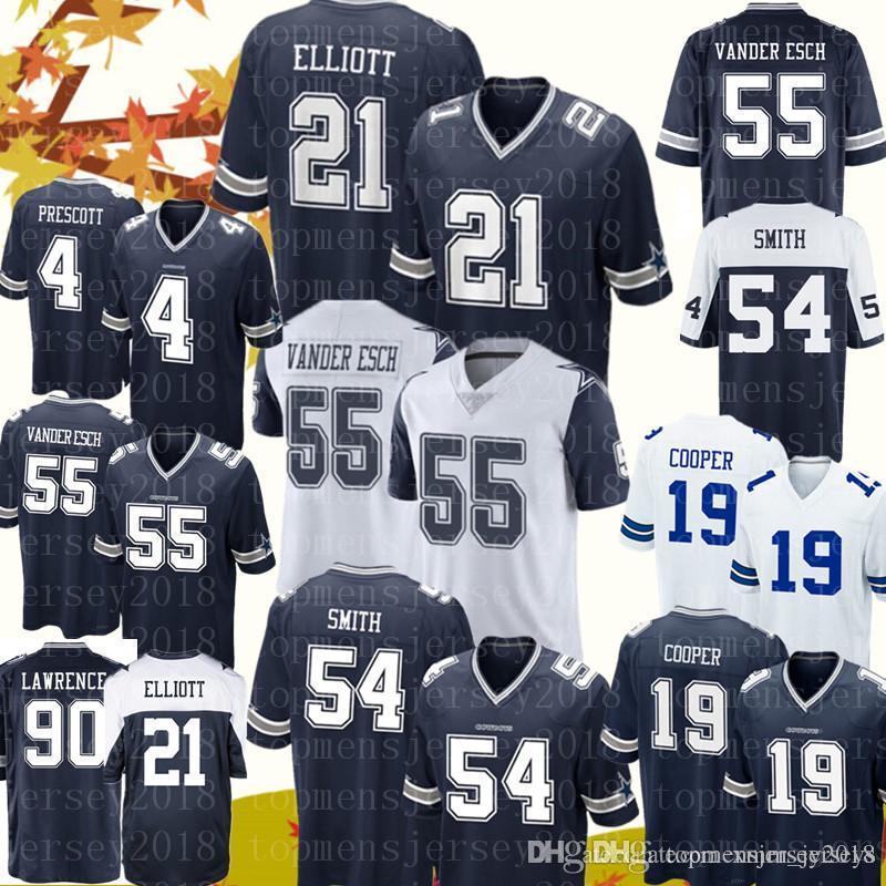 info for 3c712 4ed7e Dallas Cowboys jersey 21 Ezekiel Elliott 55 Leighton Vander Esch 19 Amari  Cooper 54 Jaylon Smith Jerseys Mens 4 Dak Prescott 90 Lawrence