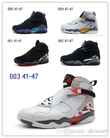 Nike Air Jordan Retro Shoes 2019 hohe qualität 8 8 s aqua chrom schwarz wahre bugs bunny herren basketball schuhe für männer sport trainer athletic