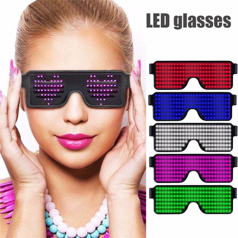 69c406a296 Compre Nuevo 8 Modos Quick Flash Pantalla LED Pantalla Gafas De Fiesta  Carga USB Gafas Luminosas Concierto De Navidad Lentes De Luz Juguetes A  $10.66 Del ...
