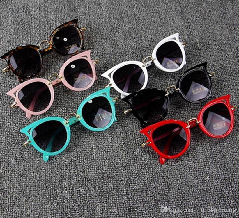 045ba132df Compre Lindo Bebé Ojo De Gato Gafas De Sol Niños Animal De Dibujos Animados  UV400 Gafas De Sol Gafas Gafas Para Niños Regalo De GirlsBoys A $12.7 Del  ...