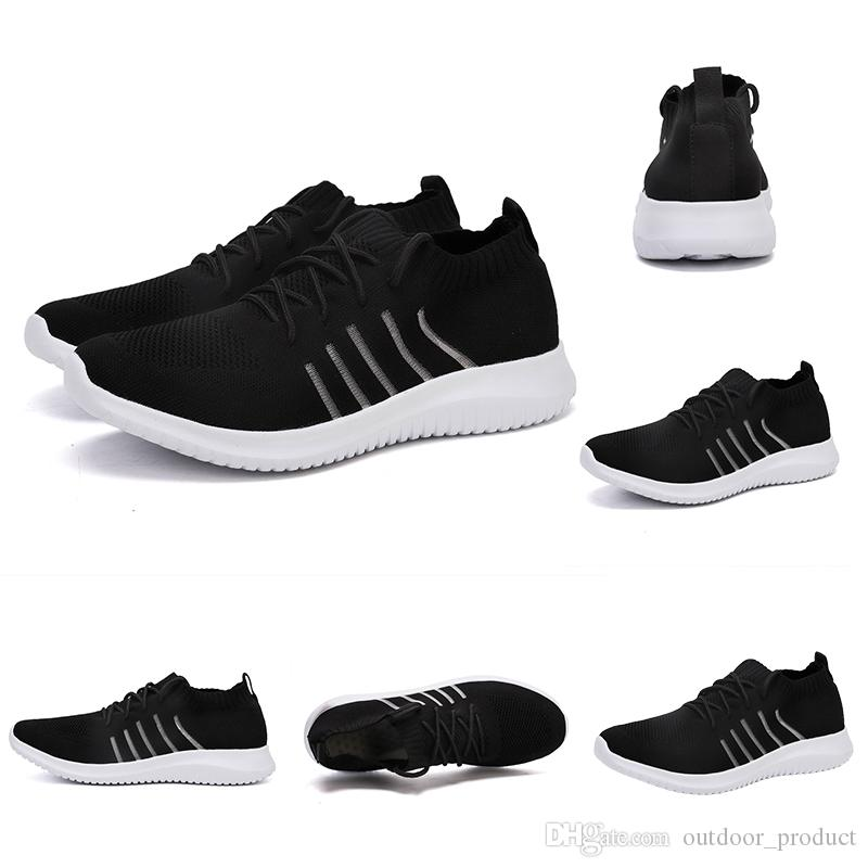 Breathable knit running shoes for men women breathable sock trainers runners sports sneakers Homemade brand Made in China size 39-44