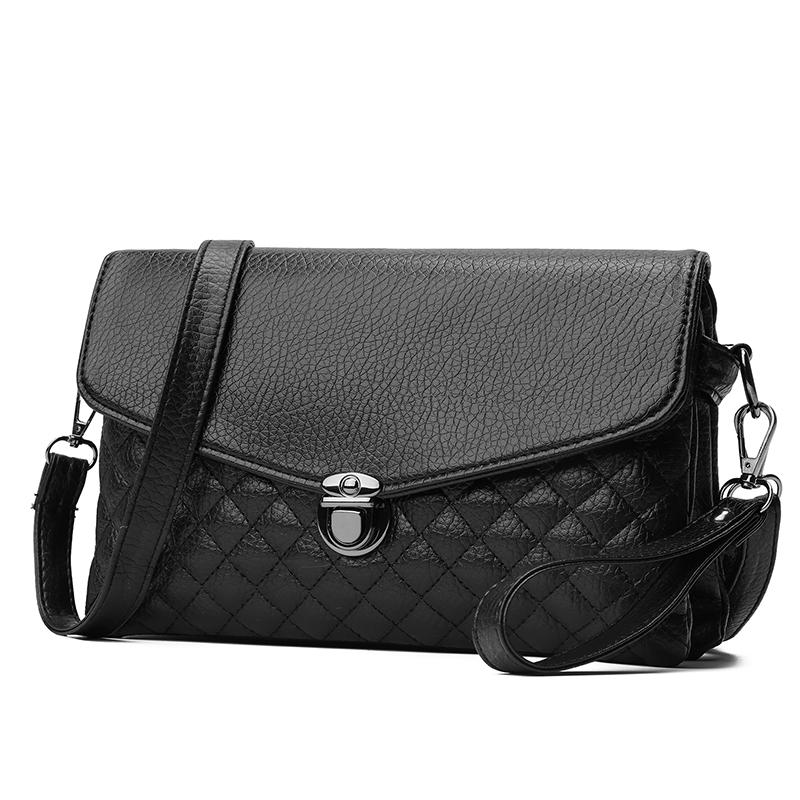 23e755d290fb Women'S Fashion Leather Simple Solid Handbag Small Shoulder Bags Crossbody  Bags For Girls Messenger For Female Purse 2019 Designer Handbags School Bags  From ...