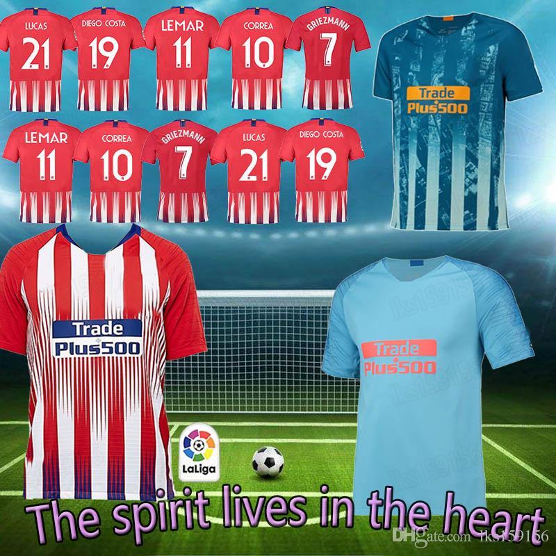 18 ~ 19 Fútbol Atlético Madrid Jersey 7 Griezamnn Jersey 11 LEMAR 21 LUCAS  Gameiro HOMBRE MUJERES Quizás Te Guste Por Lks159156 c66317c42fb64