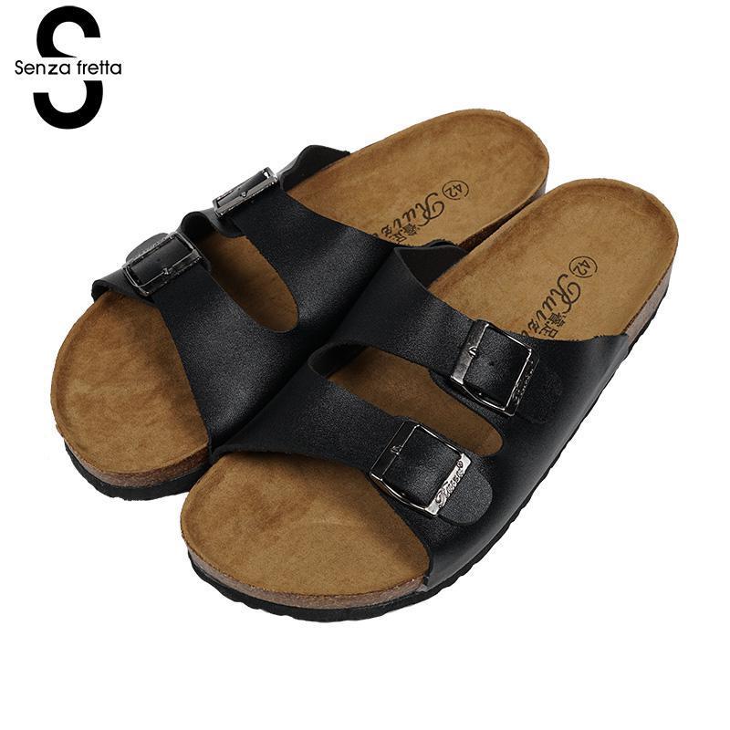 timeless design 1e290 08952 Scarpe da uomo senza frizione in sughero, ciabatte da uomo, sandali casual,  ciabatte da sughero, scarpe da spiaggia uomo, scarpe da uomo, taglia ...