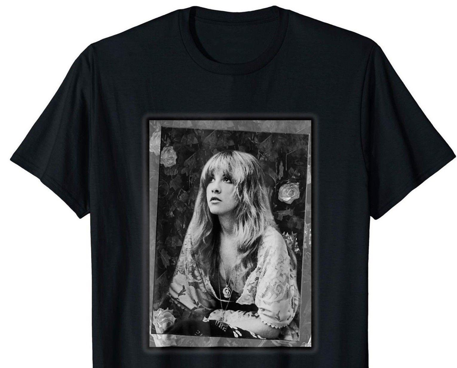 0dc972ea Stevie Singer Nick T Shirt Black Full Size For Stevie Nicks Shirt S ...