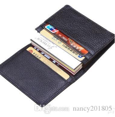 d6562b1a2528 Genuine Leather Credit Card Wallets Men Mini Card Holder Rfid Male Small  Wallet Slim Men Purse