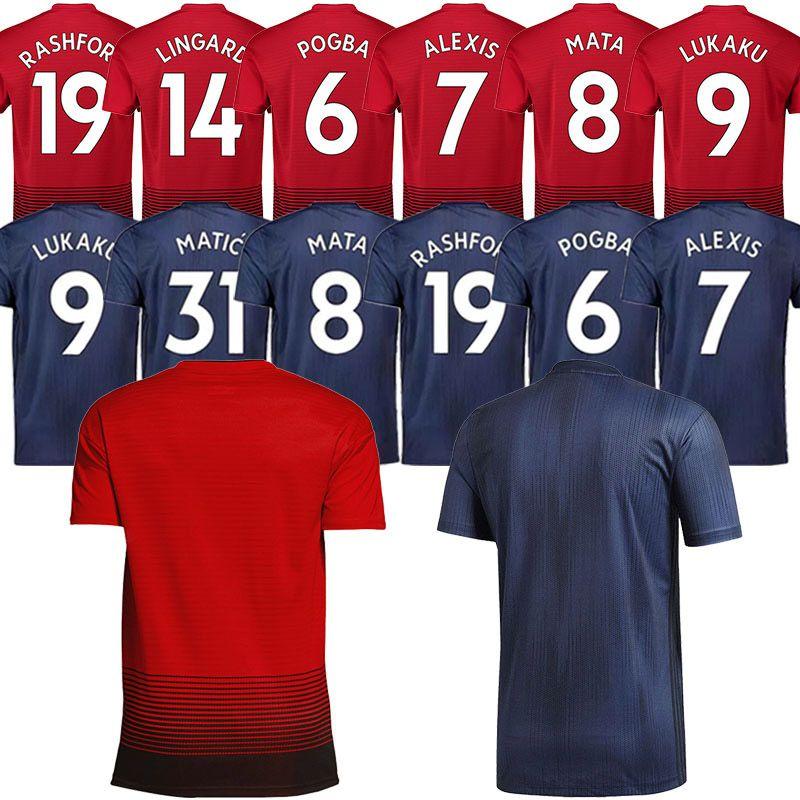watch c5fed dea79 2019 Soccer Jerseys 6 Pogba 7 ALEXIS 8 Mata 9 Lukaku 19 Rashford Cheap  jerseys High quality fabric customizable Football suit