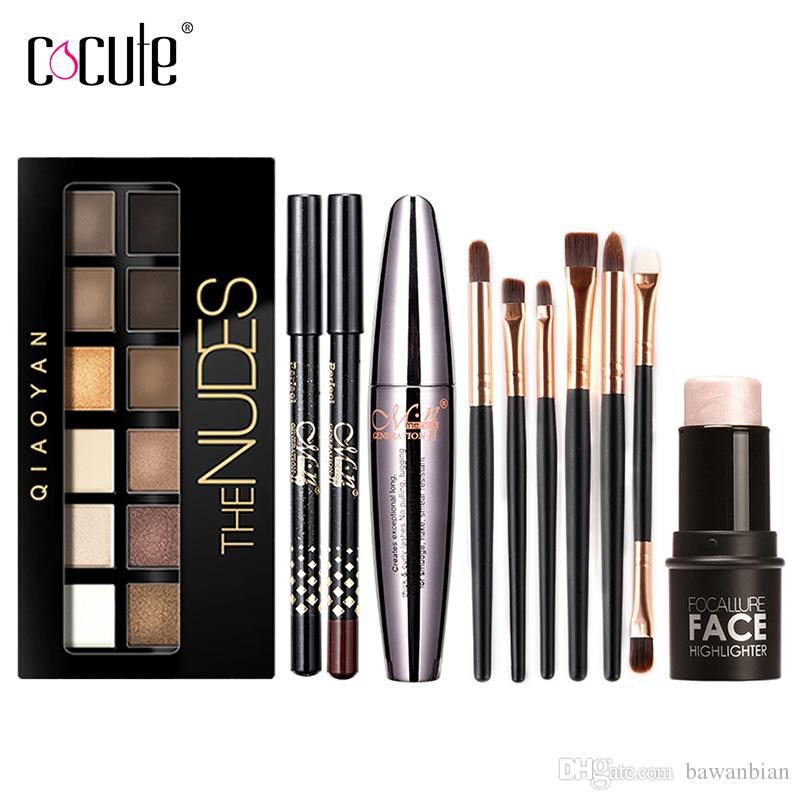 Makeup Tool Kit Including Makeup Brushes Eye Shadow Eyebrow Pen Mascara Highlighter Shimmer Stick For Girl Gift