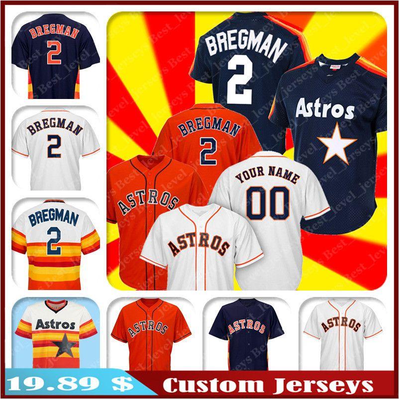 online store 65ba3 acbff Custom Astros Jersey 2 Alex Bregman jersey Carlos Correa Jose Altuve  jerseys George Springer Jeff Bagwell Justin Verlander hot sale