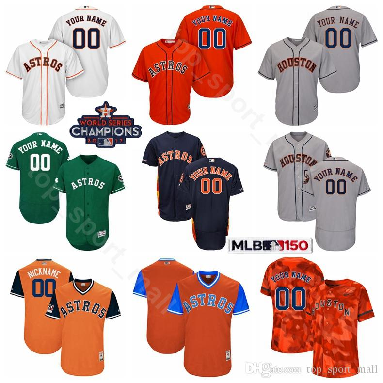 super popular fcf87 8311e Houston Baseball Astros 5 Jeff Bagwell Jersey 34 Nolan Ryan 7 Craig Biggio  Jose Cruz Jimmy Wynn Mike Scott 2017 World Series Champions