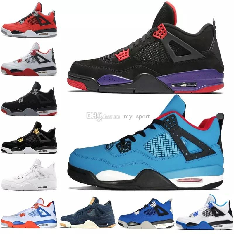 6a8e535b0483 4 4s Tattoo Black And White Graffiti Cactus Jack Raptors Mens Basketball  Shoes Kaws Travis Scotts Money Royalty Bred Fire Red Men Sneakers Girls  Basketball ...