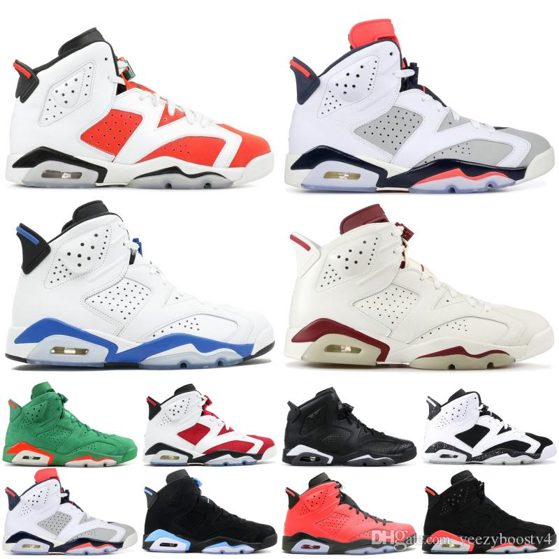 best sneakers bc690 b0e76 New Cheap 6 6s Men Basketball Shoes Carmine Gatorade Tinker Hatfield Maroon  Black Cat 2019 VI Discount Designer Sneakers 7-13