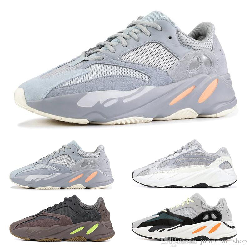 6700a082679aa INERTIA 700 Kanye West Wave Runner Static 3M Reflective Mauve Solid Grey  Sports Running Shoes Men Women Sports Sneaker Shoes Size 36 46 Men Shoes On  Sale ...