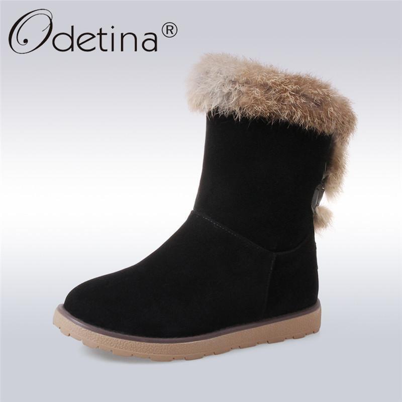 ea57ba1649 Compre Odetina Agradável Nova Moda Inverno Quente Ankle Boots De Neve Para  As Mulheres Sapatos De Salto Plana Slip On Sapatos Botas De Plataforma De  Lazer ...