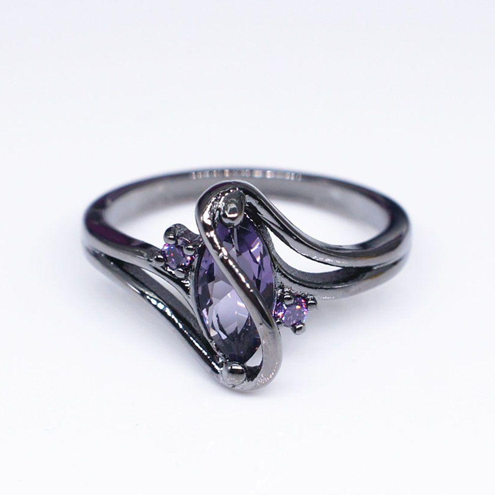 4b6f9db01f497 Fashion Jewelry S Style Black Zircon Stone Finger Rings Black Gold Filled  Women Men Wedding Party Promise Ring Bijoux