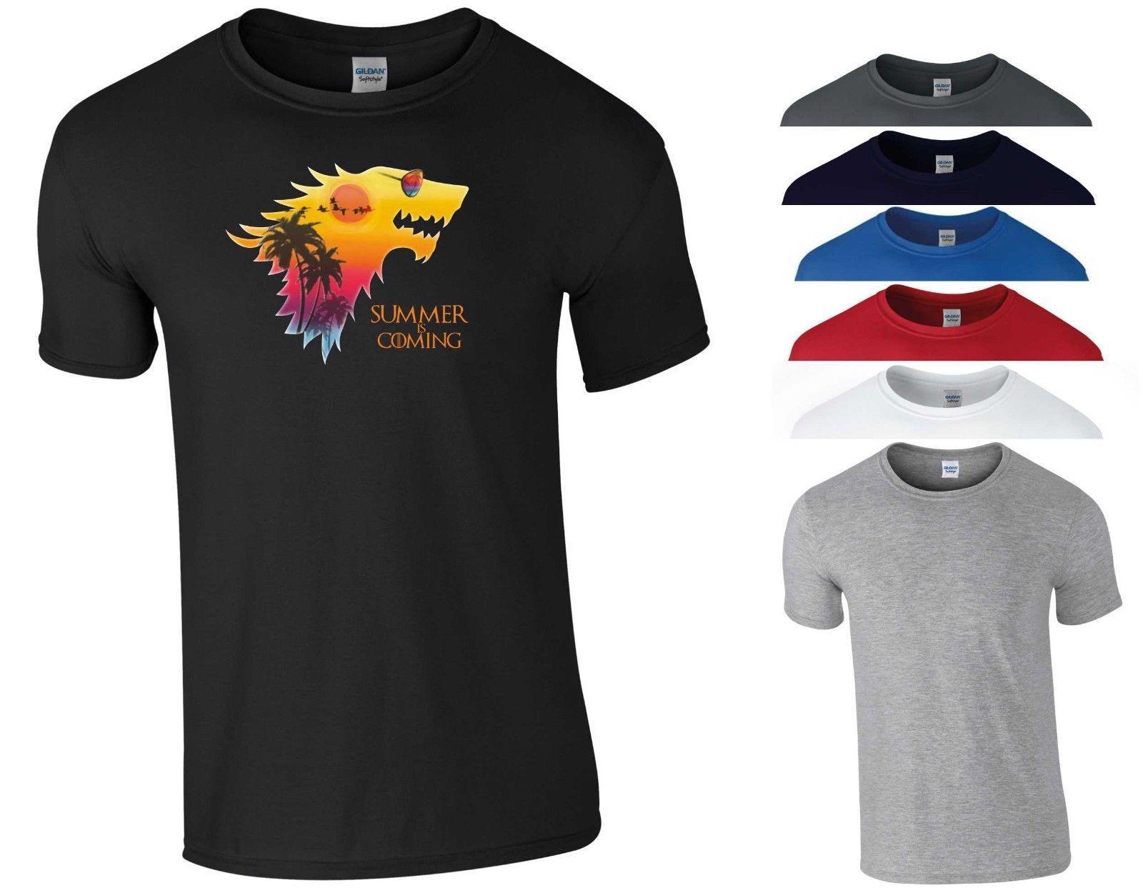 03c80796f1f5 Game Of Thrones T Shirt Summer Is Coming Parody GOT Wolf Jon Snow Gift Men  Top Funny Tshirt Top T Shirt Online T Shirt Designer From Mvptshirt