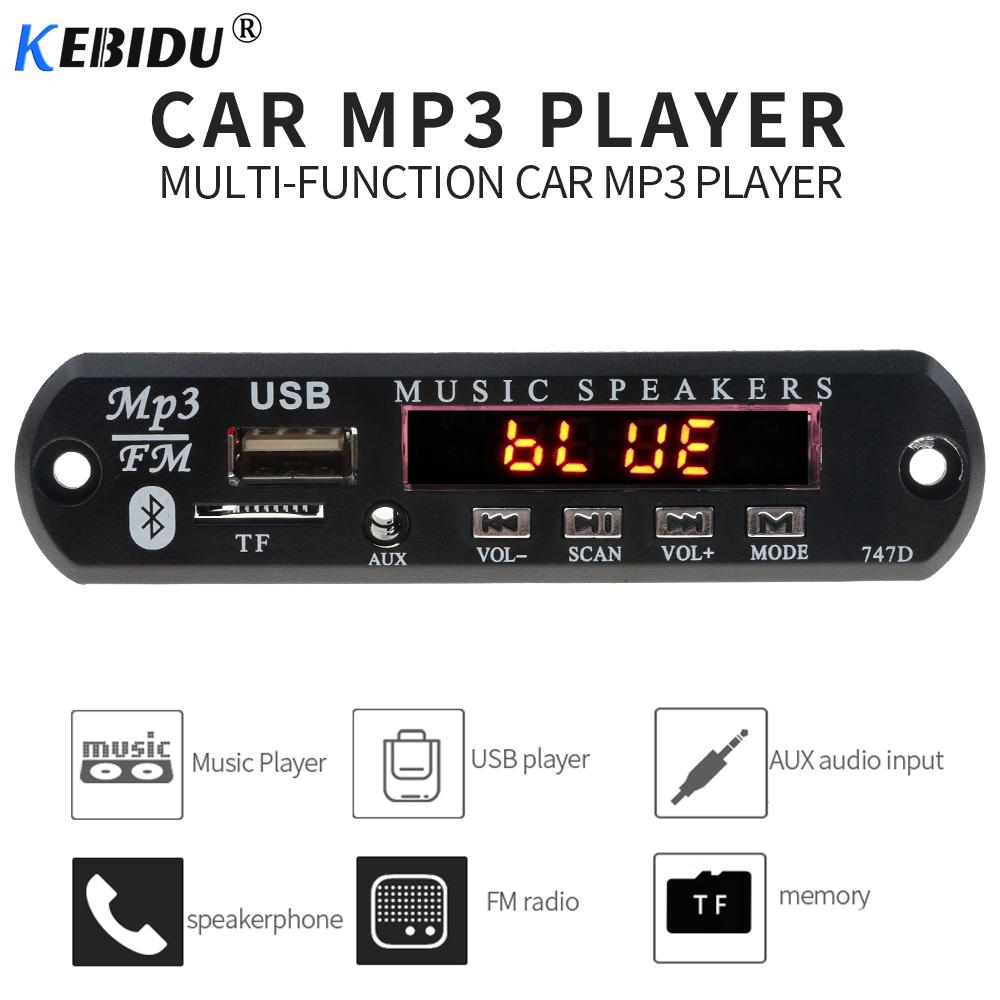 kebidu Wireless Bluetooth MP3 WMA Decoder Board Module for Car Call accessories 5V 12V Audio USB TF FM Radio with Remote Control