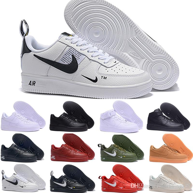 Nike air force 1 one af1 dunk 2019 designer Hommes Femmes Low Cut one 1 chaussures Blanc Noir Skateboarding Chaussures Classic chaussure homme femme