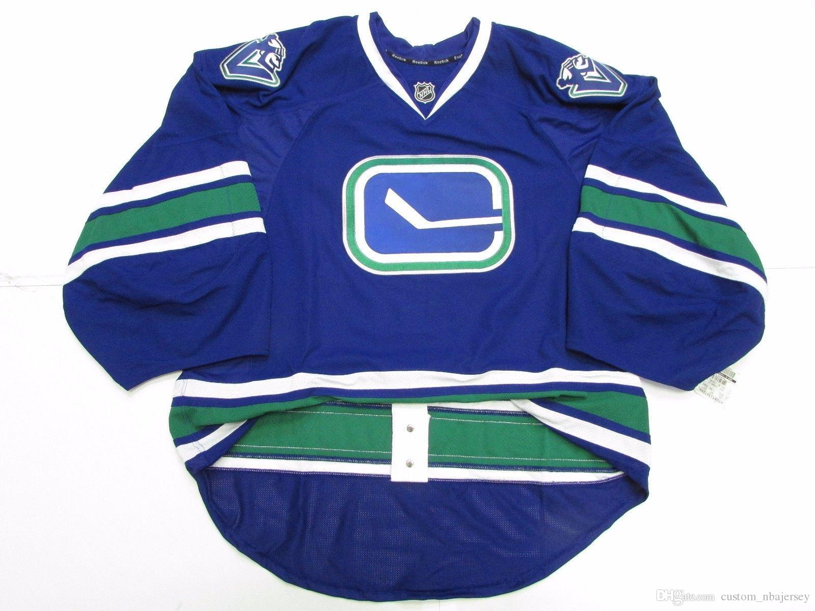 fc18da636 2019 Cheap Custom VANCOUVER CANUCKS THIRD JERSEY GOALIE CUT 58 Stitch Add  Any Number Any Name Mens Hockey Jersey From Custom_nbajersey, $27.92 |  DHgate.Com