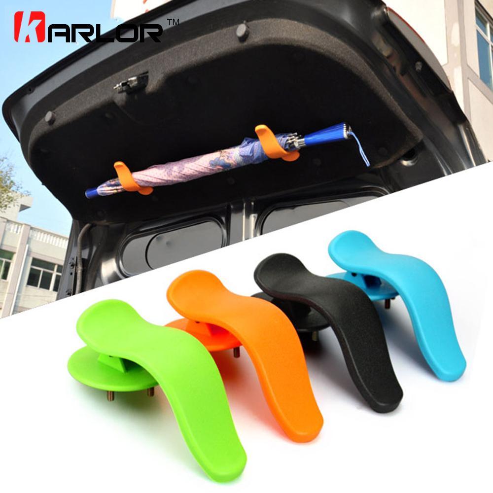 Universial Car Trunk Multi Purpose Lid Umbrella Holder Hanger 2P for CHRYSLER