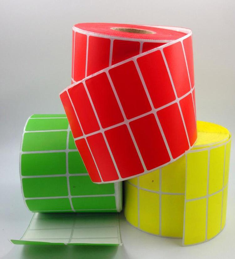 3000pcs/roll Mini Self Adhesive Sticky 4 Colors Label 2 rows Blank Adhesive  Therm Stickers Note Tags Craft Plain Sticker 40x30mm