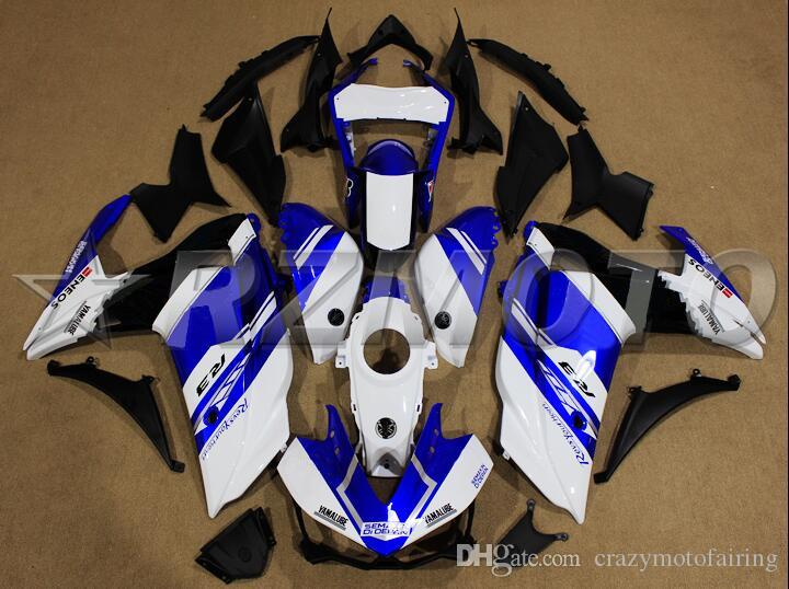 New Injection ABS Molding Motorcycle plastic Fairing Kit For YAMAHA R3 R25 2015 2016 15 16 Fairings Bodywork set blue white hot sales!