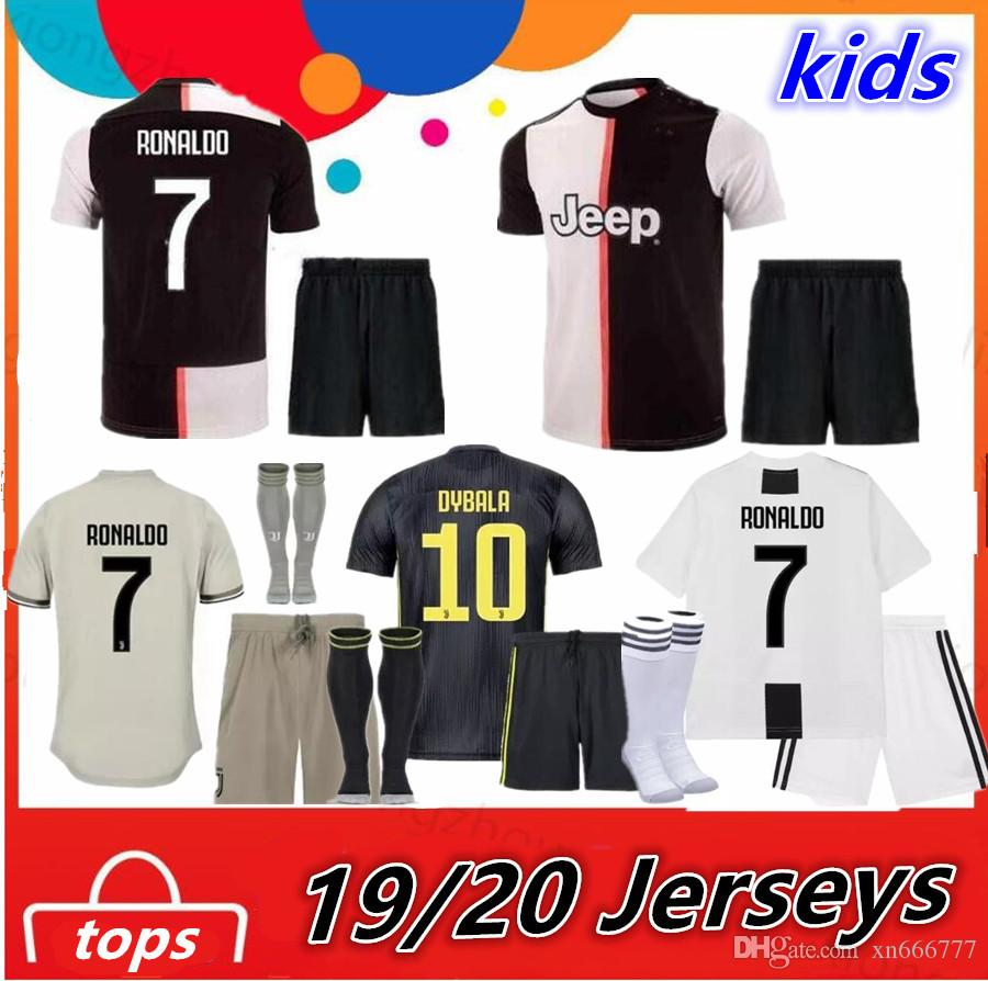 64042ce1b2f 2019 2019 2020 RONALDO Kids Kit Juventus Home Third Soccer Jersey 18 19  DYBALA JUVE Camisetas De Futbol Football Shirts CRISTIANO Men Jerseys From  Xn666777