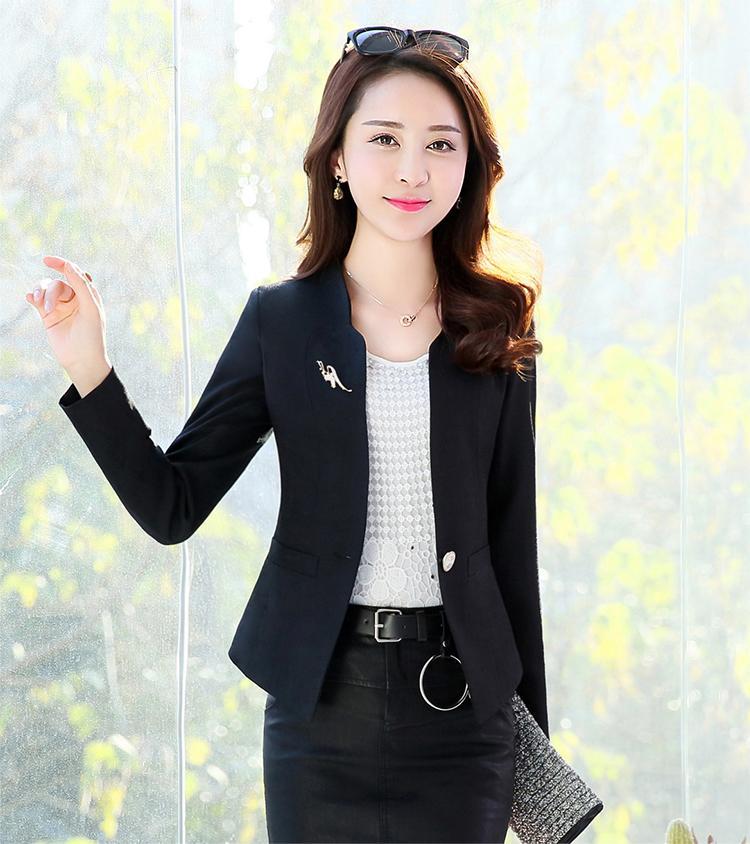 Femmes blazers 2018 printemps Casual top et veste de mode