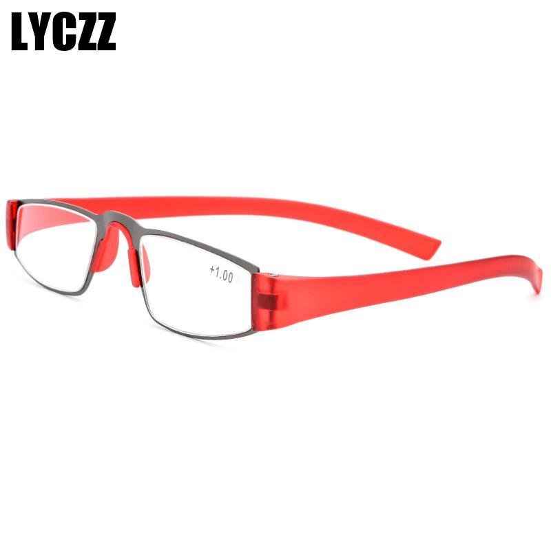 de17d44b5a2e 2019 LYCZZ Small Square Book Paper Reading Glasses Frame For Elderly  Flexible Anti Fatigue Eyeglasses Men Women TR90 Optical Oculos From  Tiebanshao