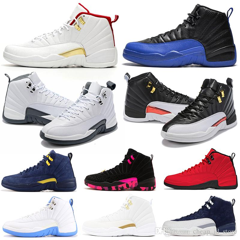 12 12s scarpe da basket uomo Bulls Michigan College Navy UNC NYC Vachetta Tan Wheat Grigio scuro Bordeaux playoff Flu Game uomo Sport sneakers