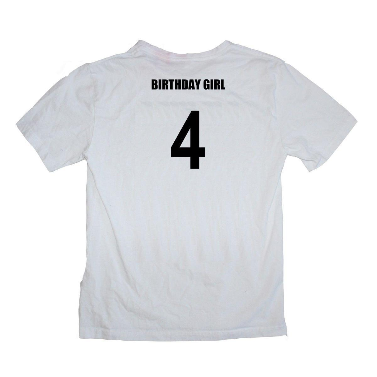 11d2455d5 Birthday Girl 4th Fourth Birthday Four 4 Year Old Female Baby Shirt Many  Colours Design Tee Shirts T Shirt Funny From Lefan10, $14.67  DHgate.Com