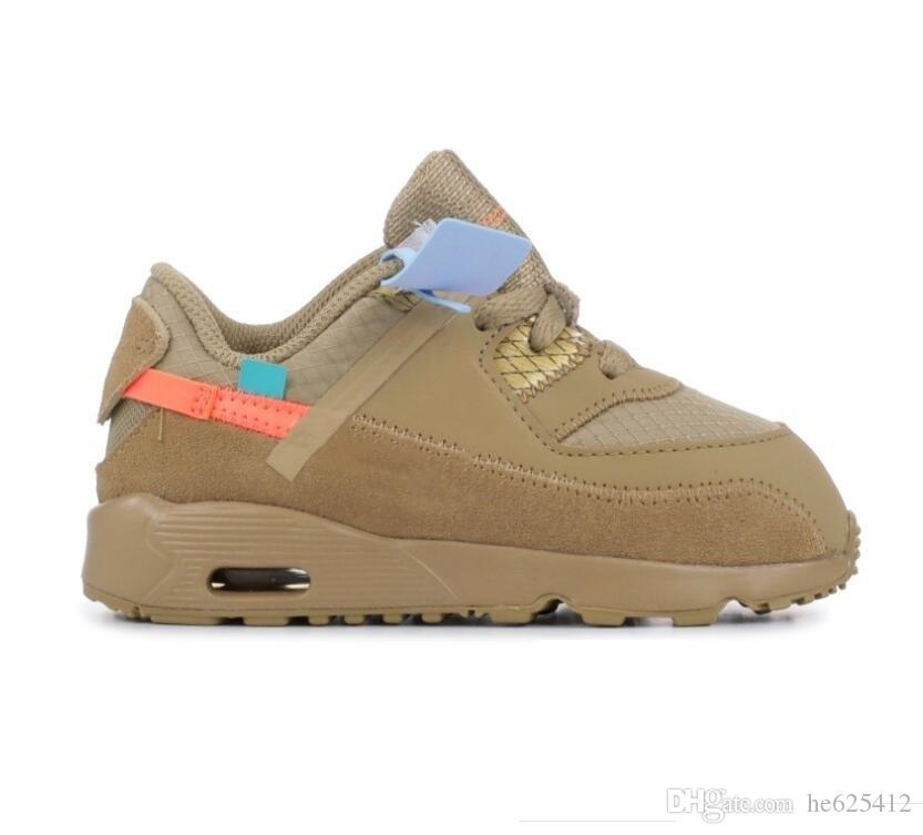 NIKE AIR MAX 90 Infant 90S Bt Desert Ore Run ragazzi Scarpe da corsa per bambini mango brillante Bambini huaraches outdoor toddler athletic girls Sneaker bambino