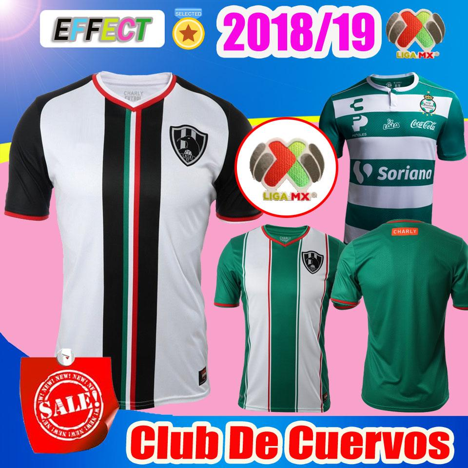 e248381b3b1e7 2018 Mexico Club De Cuervos Soccer Jersey 18 19 Local Visitante Green Club  America PACHUCA Tigres Monterrey Chivas 2019 Camisetas Por Firesport