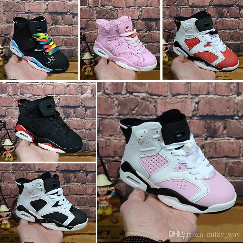 save off 92e7a 0954e Großhandel Nike Air Jordan 6 Retro 2018 Kinder 11 11s Space Jam Bred  Concord Turnhalle Rote Basketballschuhe Kinder Junge Mädchen 6s 11s  Midnight Navy ...