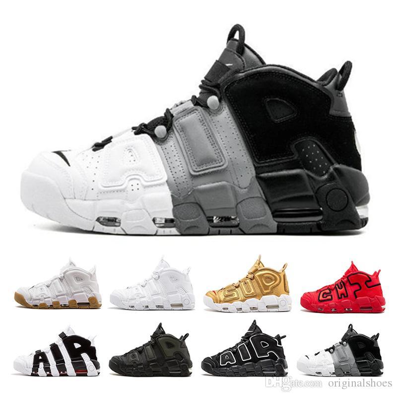 watch c4a7d c3d4f Compre Air More Uptempo Zapatos De Baloncesto Para Hombre Para Hombre Mujer QS  Olympic Varsity Granate Blanco Negro Scottie Designer Sneakers Tamaño 36 46  A ...