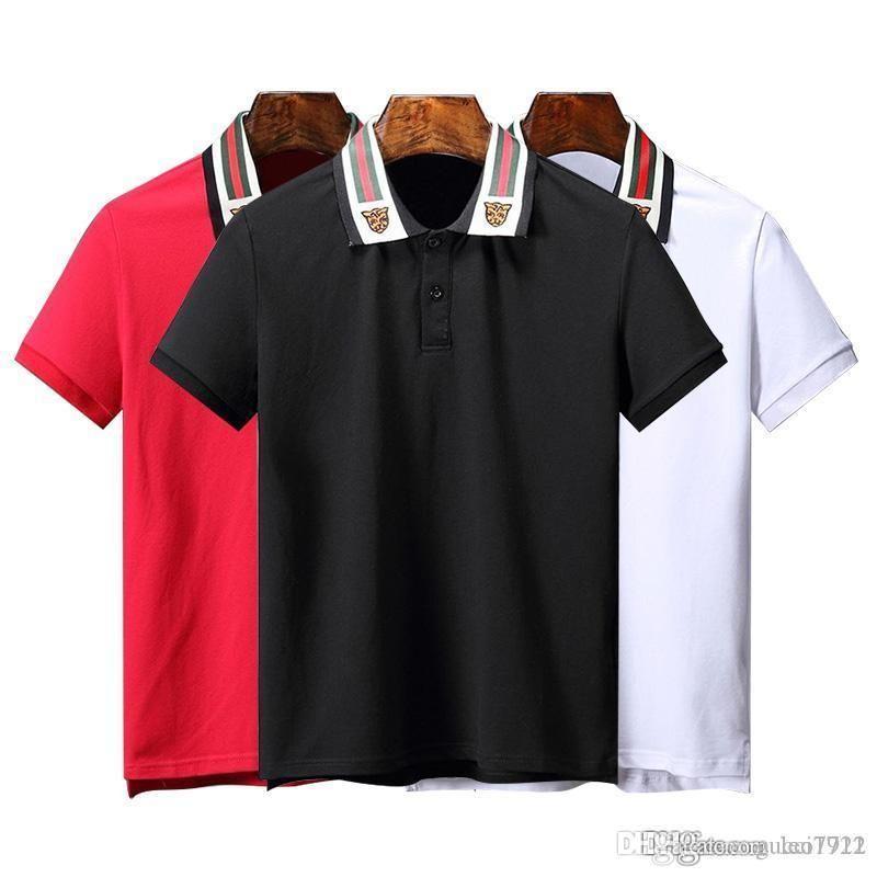 034458467 Compre Polo Homme Camisa 19ss Estampado De Manga Corta Slim Fit Medusa  Camisetas Hombre Robin Brand Polos Tops Con Bordado Abeja Casual G Polos A  $23.32 Del ...