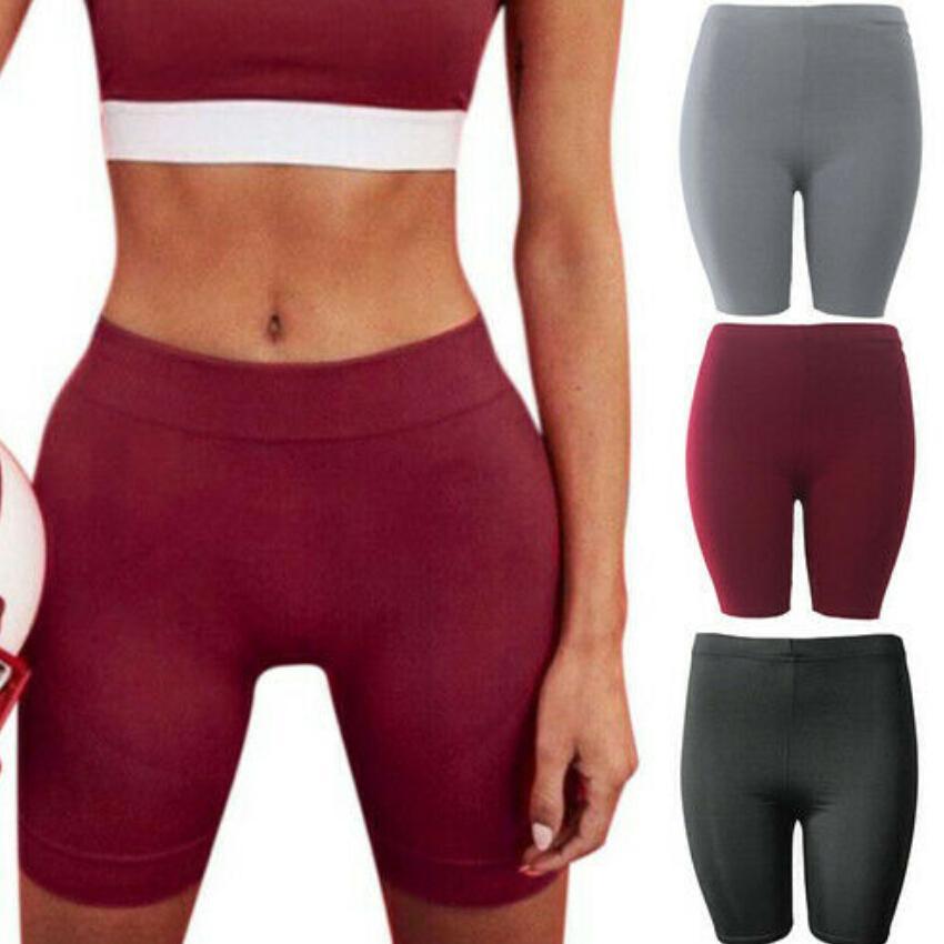 Женщины Велоспорт шорты Танцы Gym Байкер Йога Горячие шорты Леггинсы Активные повседневные спортивные брюки