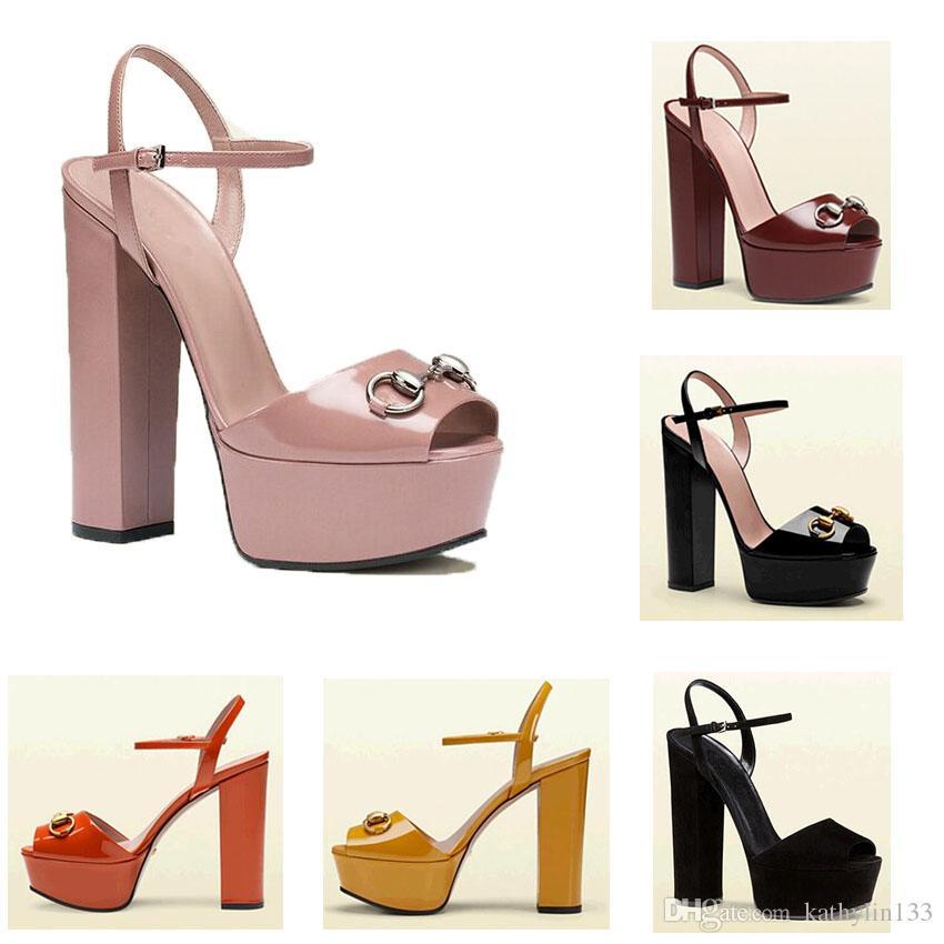 d66158ac Compre 2019 Nueva Moda Chic Zapatos De Mujer Zapatos De Alto Grado Faminine  Peep Toes Zapatos Mujer Plataforma Tacones Gruesos Sandalias Sapatos  Melissa ...