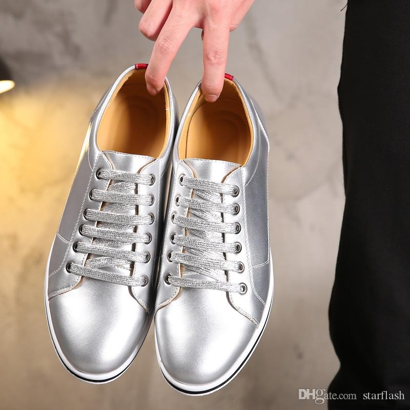 Men Business Dress Shoes Breathable Lace Up Spring Formal Luxury Golden Men Flat Walking Driving Shoes Dress Party Wedding Shoes Q-634