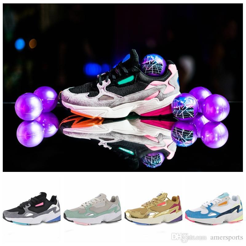 Adidas Livraison gratuite 2018 Falcon W Femmes Chaussures De Course Pour Haute Qualité femmes chaussures luxe designer baskets Originaux jogging à l