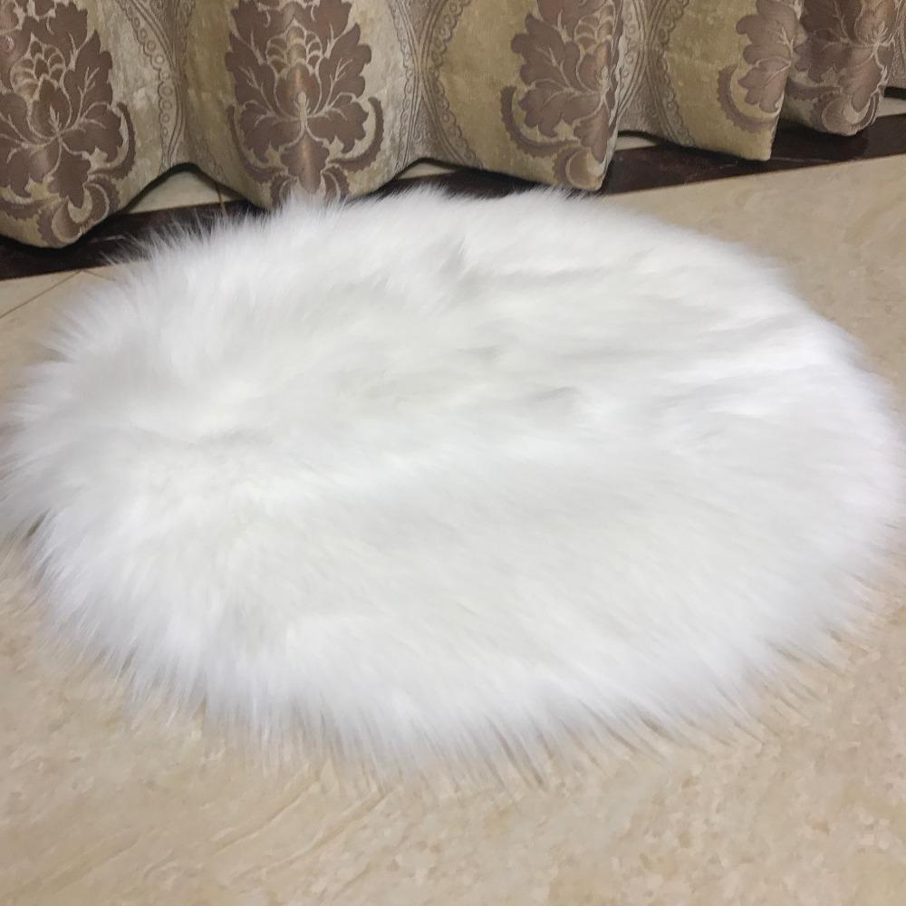 Muzzi Faux Fur Sheepskin Chair Cover Seat Pad Soft Carpet Hairy