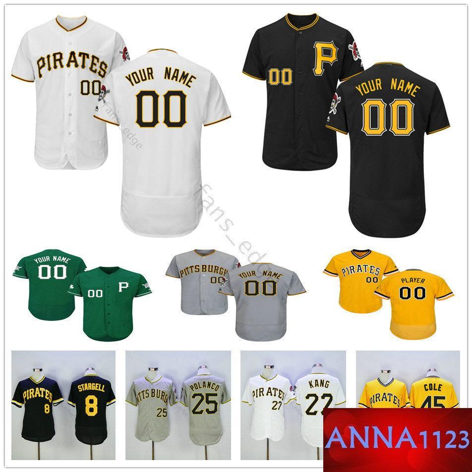 be6467e13 2019 Custom Pittsburgh  2 Erik Gonzalez 45 Gerrit Cole 6 Starling ...