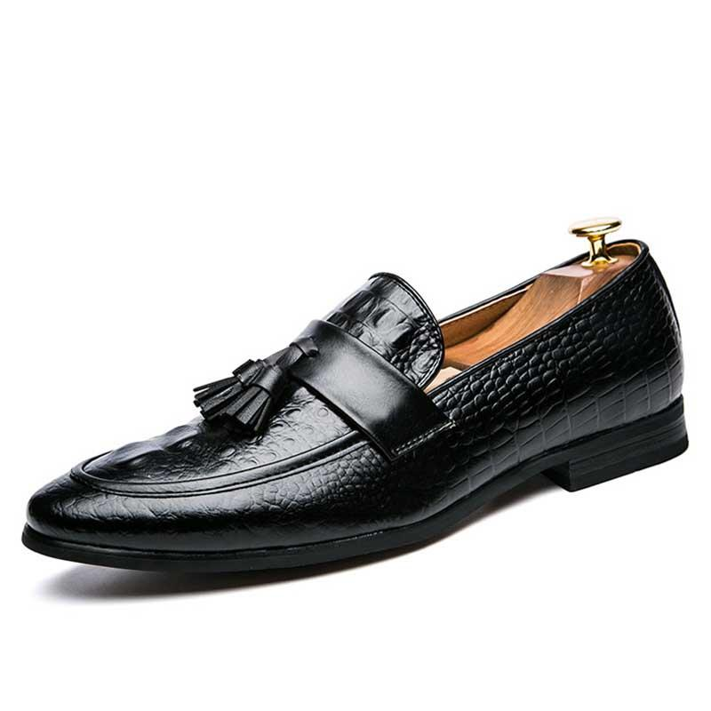 Men's Shoes Masorini Fashion Snake Skin Brogue Leather Oxford Tassel Slip On Pointed Toe Shoes Designer Male Formal Cool Footwear Ww-551 Buy One Get One Free Shoes