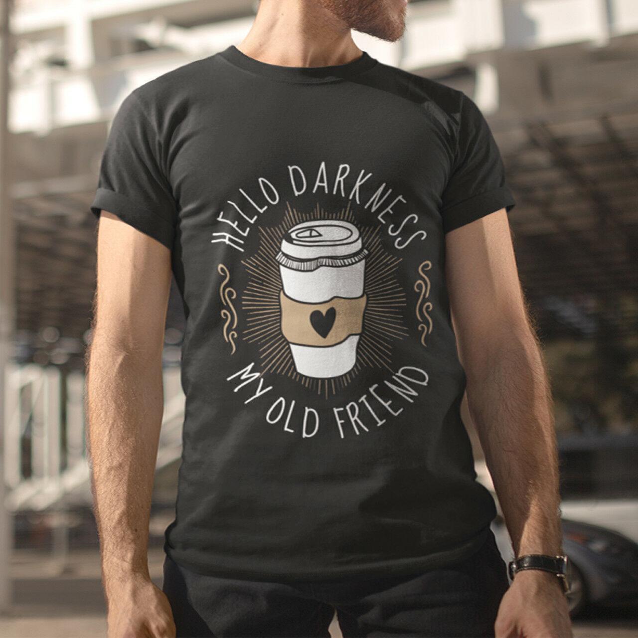 99c21cc4 Hello Darkness My Old Friend Men's Black T-Shirt Size S M L XL 2XL 3XL 4XL  hoodie hip hop t-shirt