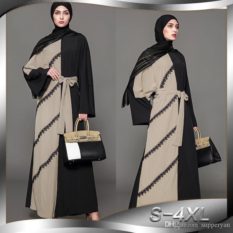 Muslim Women Bat Sleeve Abaya Long Hijab Maxi Prayer Dress Arab Dubai Kaftan New