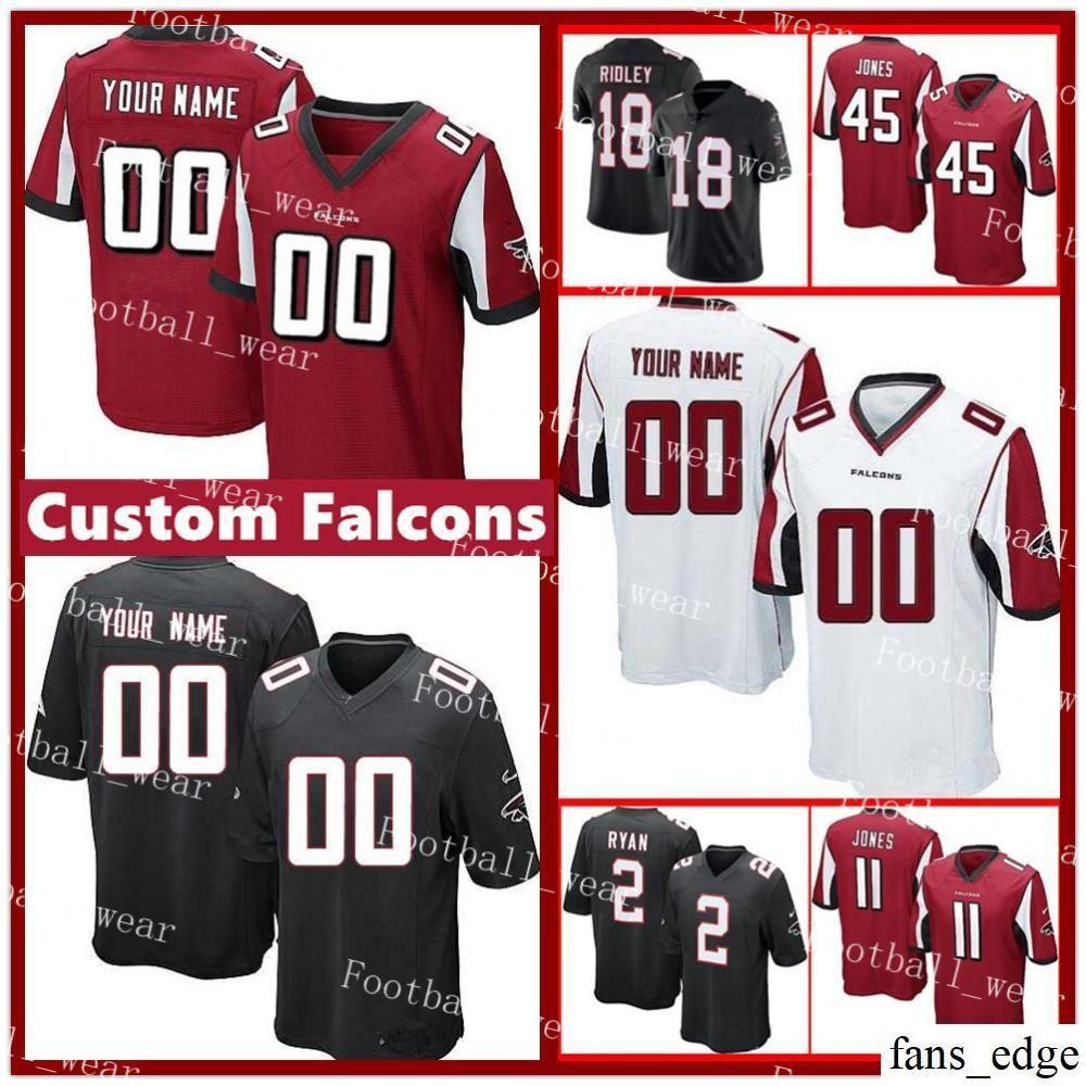 2018 Custom Atlanta Falcons Jersey 18 RIDLEY 44 VIC BEASLEY 21 Deion  Sanders 45 Deion Jones 24 Devonta Freeman Keanu Neal Customized Football  From Fans edge ... d30d7f922