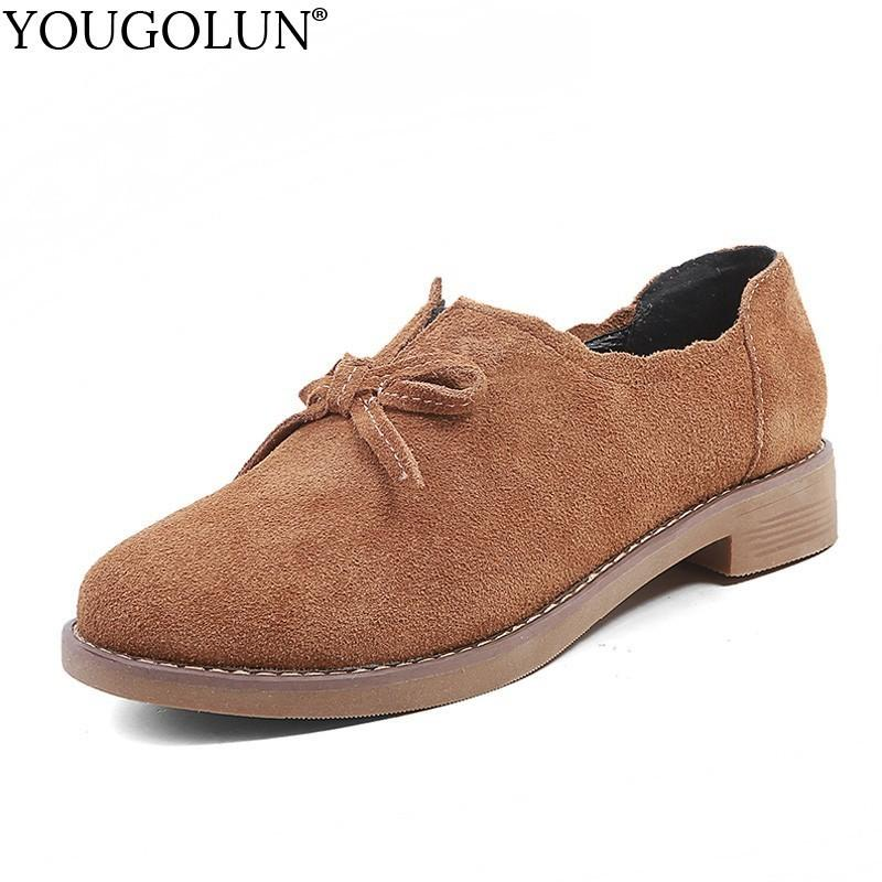 277ff824a3c Wholesale Women Cow Suede Loafers New Spring Autumn Ladies Casual ...